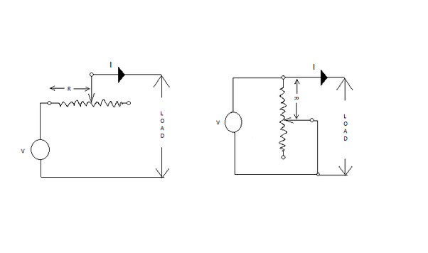 how can a rheostat work as a potential divider and current limiter rh quora com Using a Rheostat Motor Speed Control Difference Between Rheostat and Potentiometer