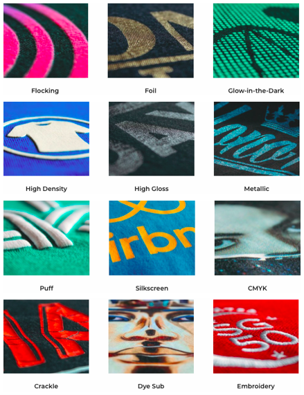 1915f59a A good place to create and buy a t-shirt for your company is definitely  Saltycustoms. They offer different print methods to create your best custom  design: