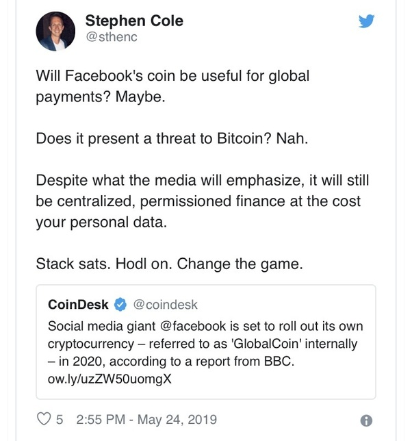 how much will facebook cryptocurrency cost