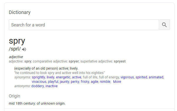 Another word for old person