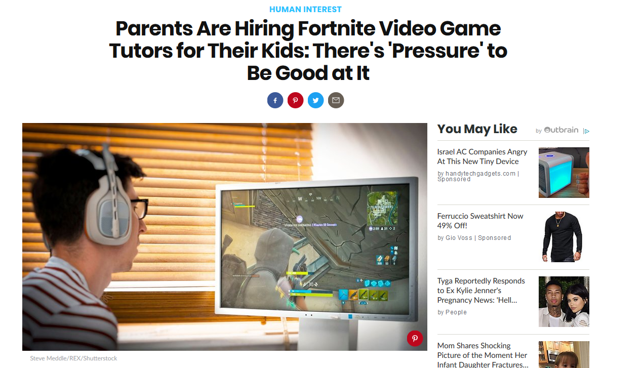 What Do You Think About Parents Getting Their Kids Fortnite Tutors