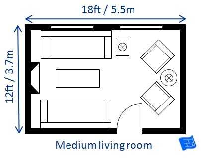 living room layout dimensions | What is the average size of a living room? - Quora