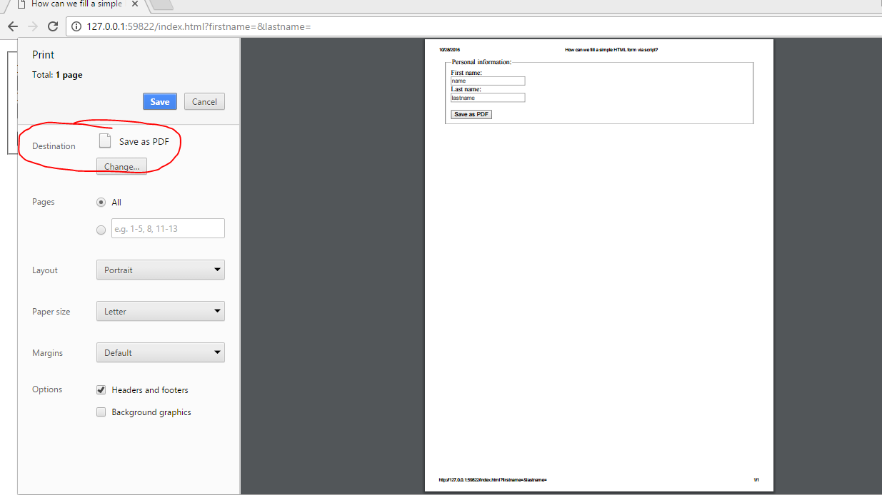 How to convert my HTML form into a PDF using scripting - Quora