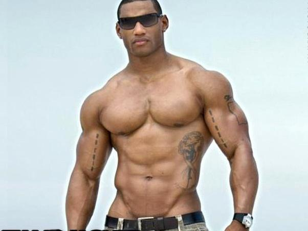 muscle man hunk enters his lover