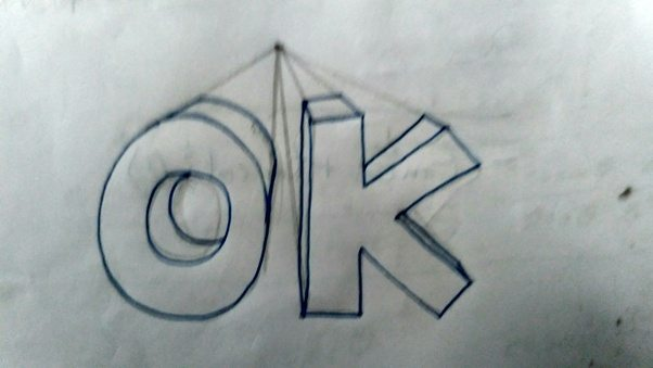 This Is The Most Efficient Method To Draw Perfect 3D Letters Free Hand Drawings Can Also Be Made