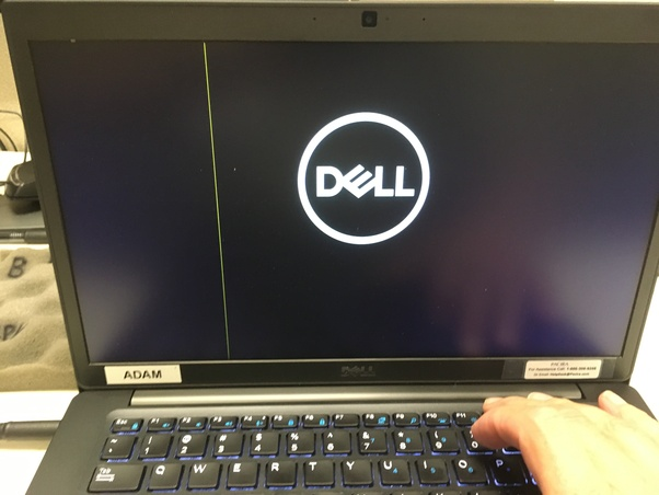 Why is there a white line on the screen of my laptop? - Quora