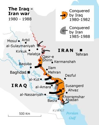 during the initial iraqi invasion in 1980 the main iraqi assault occurred in the south along a coastal plain of the northern persian gulf while supporting