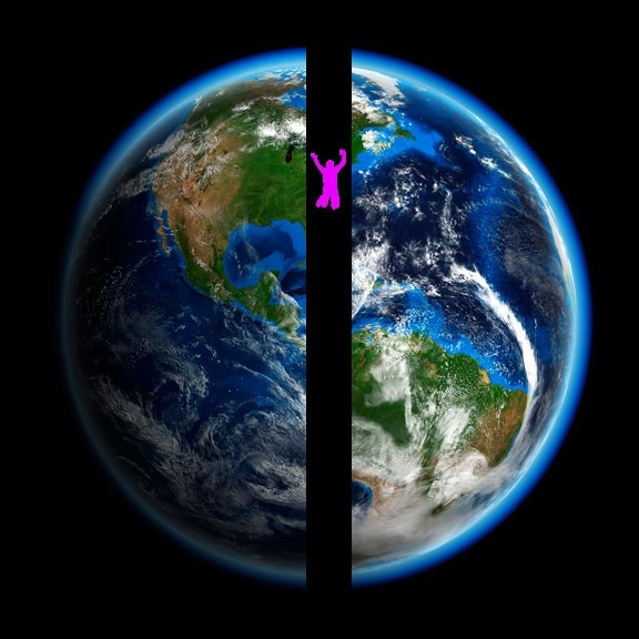 If a hole is made right through Earth so it reaches the other side ...