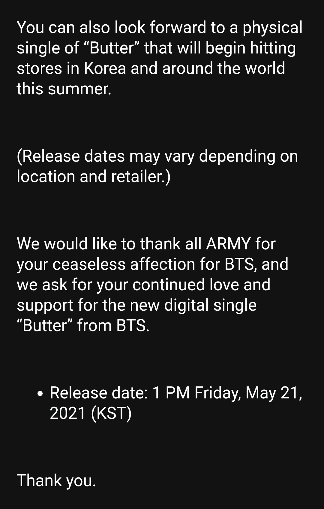 Is Butter a new song of BTS   Quora