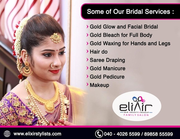 Which are the best bridal makeup in hyderabad and also