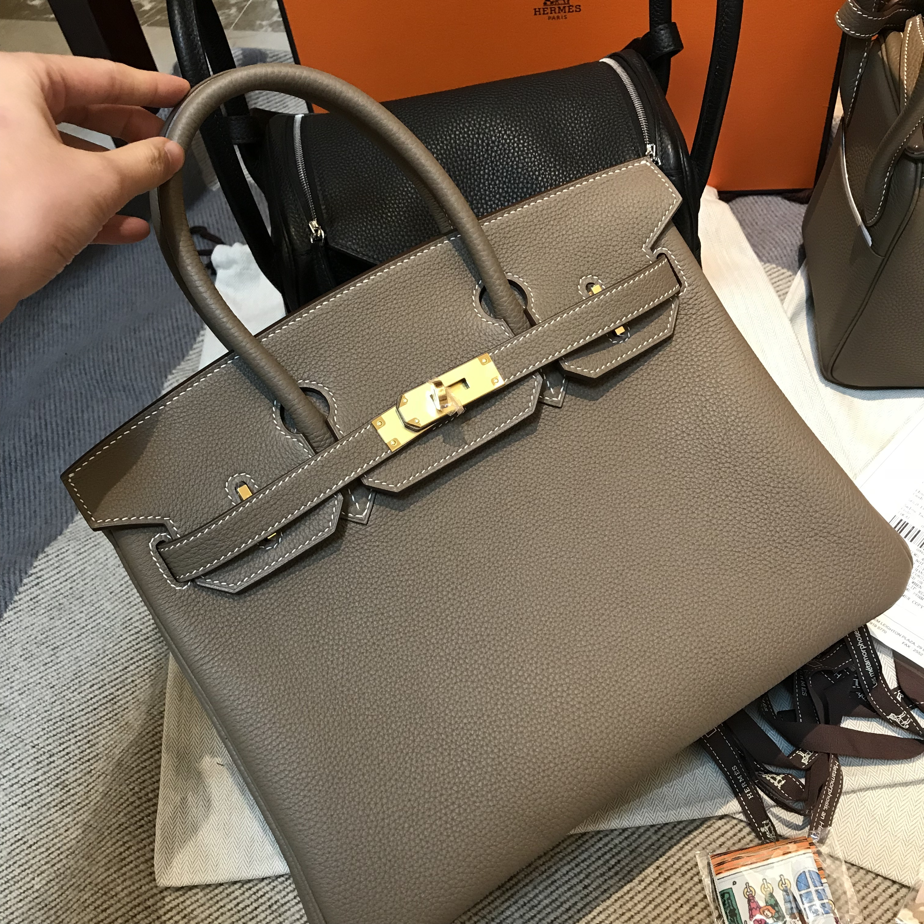 ... Hermes Birkin from her. It s exactly the same as my Lindy I bought in  France last year. Price of their bags is higher than that of other sellers f4ebb8ed44906