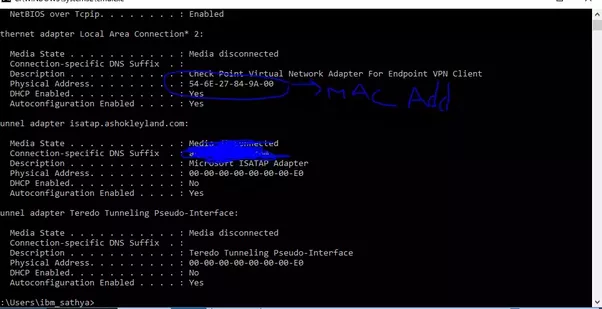 how to find device with mac address