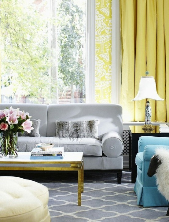 Colour With Grey Seats And White Walls