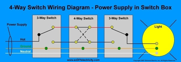 How to wire a double pole light switch Quora