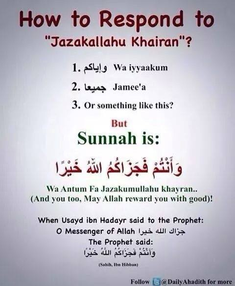 What is the meaning of 'jazakallah'? - Quora