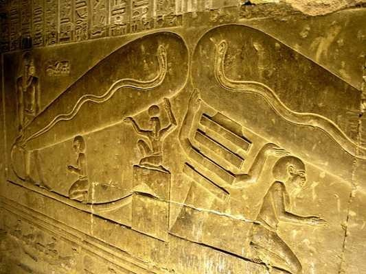 Do the book of the dead and other egyptian carvings really depict