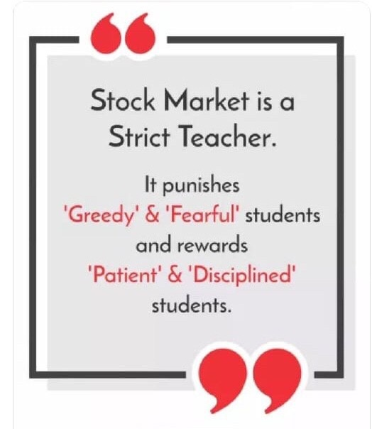Stock market is the best teacher when it comes to investing. What did you  learn from the recent downfall in the share market? - Quora