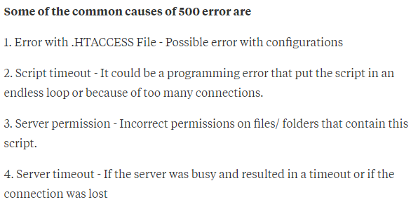 What is a 500 Internal Server Error? - Quora