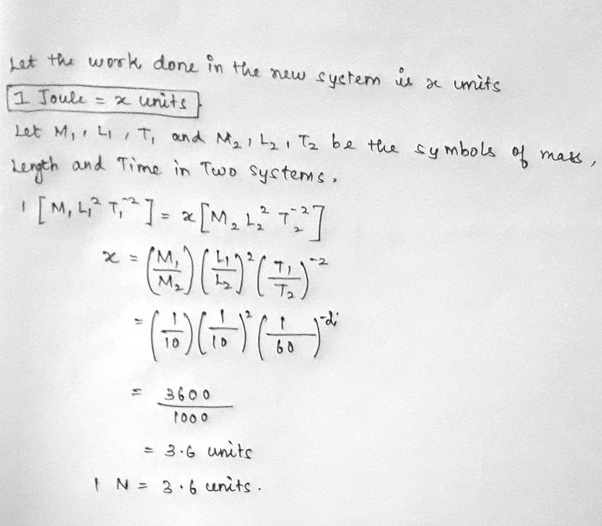 In a new system of units, where a unit of mass=10kg, length