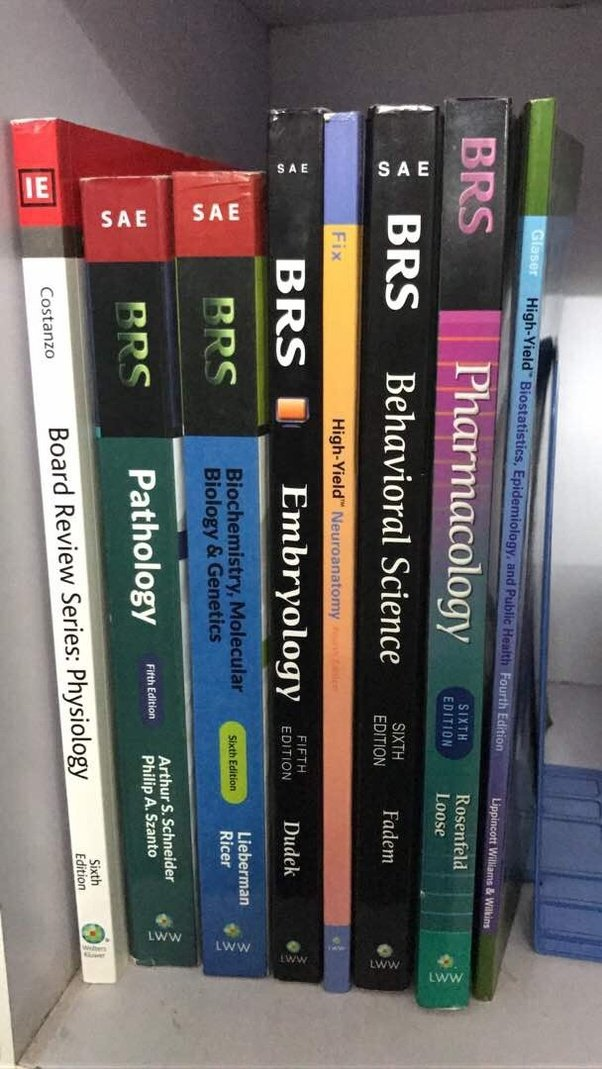 Which Books Should We Study In The First Year Of An Mbbs In Order To
