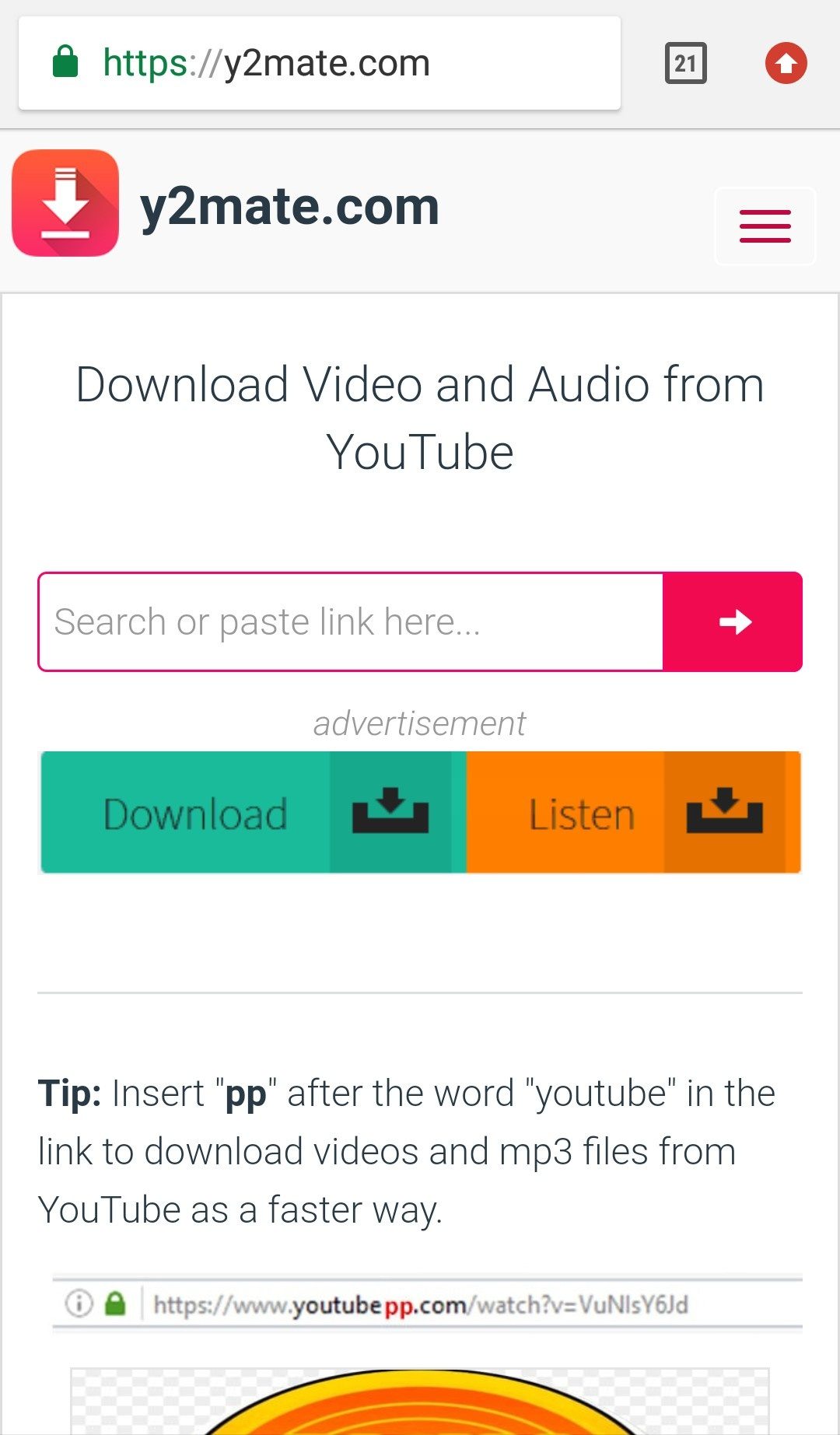 download video from youtube y2mate