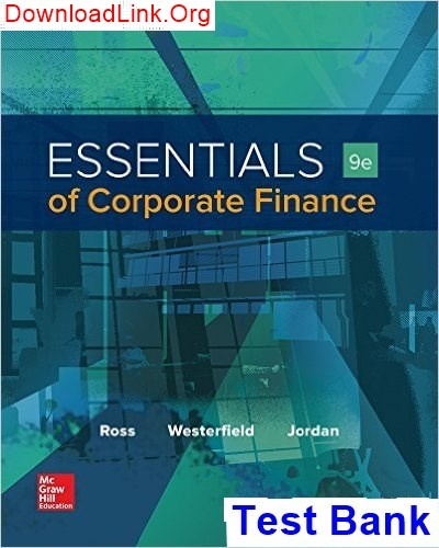 Where can I download Essentials of Corporate Finance 9th