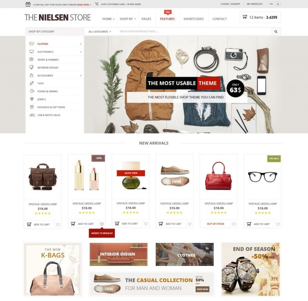 fd18c7a00 This theme is versatile yet easy-to-use so that you can build a professional  online store for selling products online with ease. And Nielsen WordPress  ...