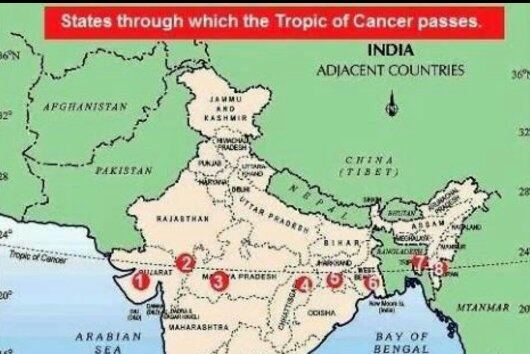 Ujjain India Map.Does The Tropic Of Cancer Pass Through Ujjain Quora