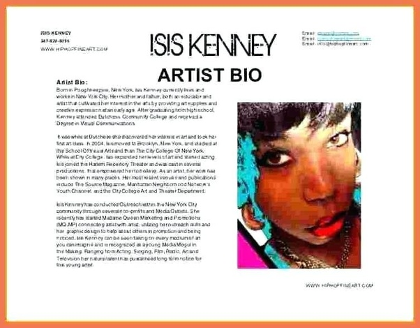 What are some really good short 300 500 words artist ...