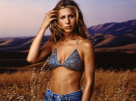 young jennifer aniston topless