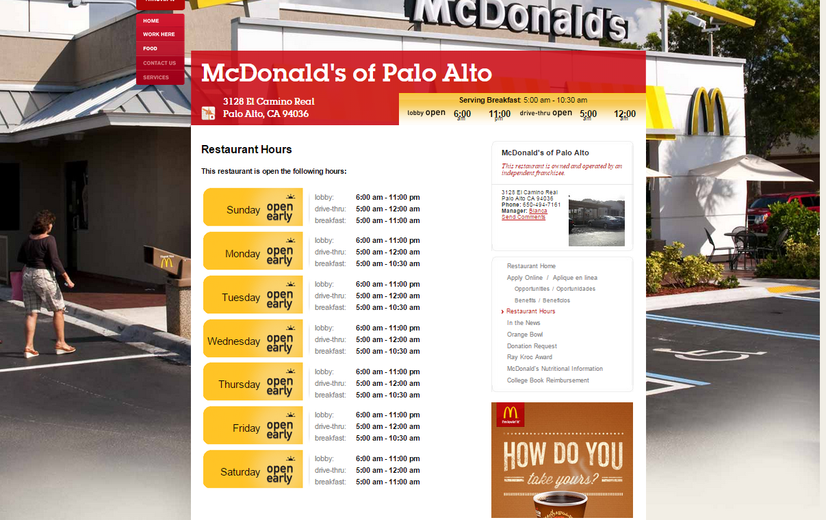 What Are The Hours For Mcdonald S Breakfast Menu Quora
