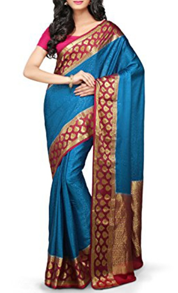 5f84f56767f Gujarati Style: This style is originated in Gujarat state. But today many  people use this style for gatherings and parties because it showcases the  rich and ...