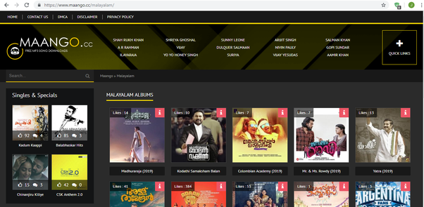 What is the site to download the Malayalam song? - Quora