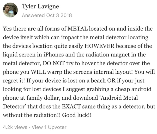 Can a cell phone be detected with a metal detector? - Quora