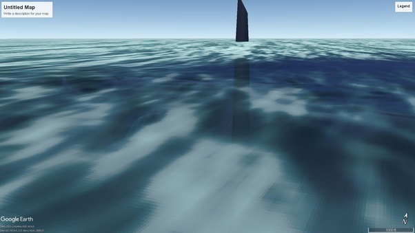 In Google Earth, why are some areas of the ocean floor ... on google oceans 3d, google earth atlantis coordinates, google earth finds atlantis, google earth sea floor, google earth ocean topography, google earth ocean map, google ocean atlantis,