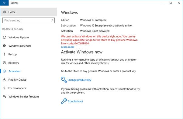 windows 10 pro installation problems
