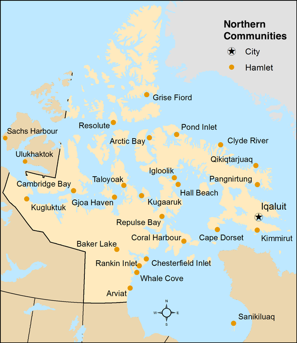 Canada Islands Map Does anyone live in the northern Canadian islands?   Quora