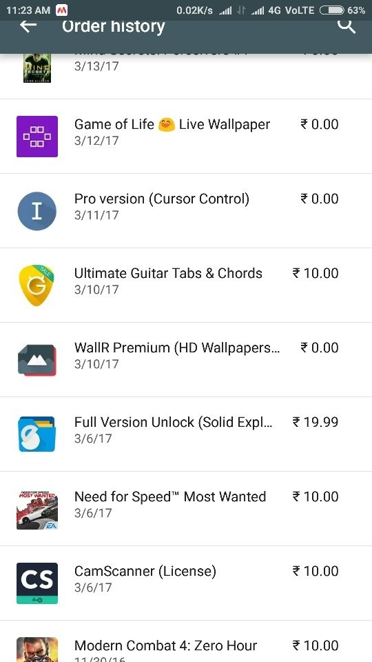 How to pay for a ₹0 00 in-app purchase from Google Play