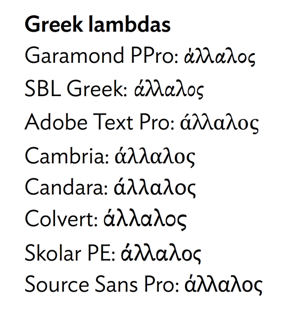 Which Fonts Have The Best Lambda Characters Quora