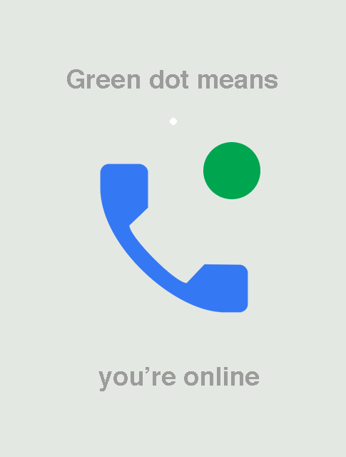What does the green dot on match com mean