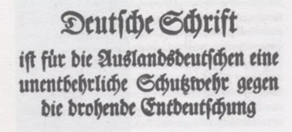 nazi writing