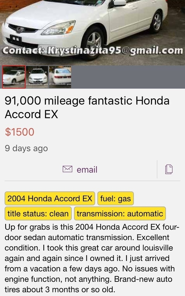 Why do people put fake car ads on craigslist? - Quora