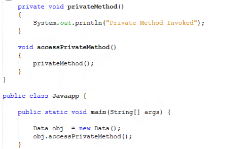 Call To Private Method