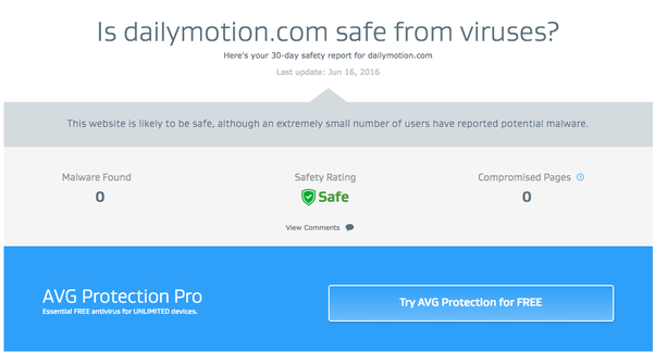Is dailymotion safe quora according to avg threat lab there is no malware found so it is safe from viruses as well stopboris Images