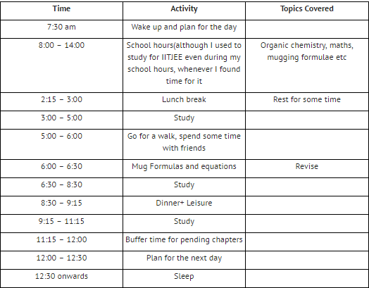 create online timetable
