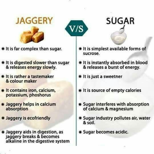 Why is jaggery considered more healthy than white sugar? - Quora