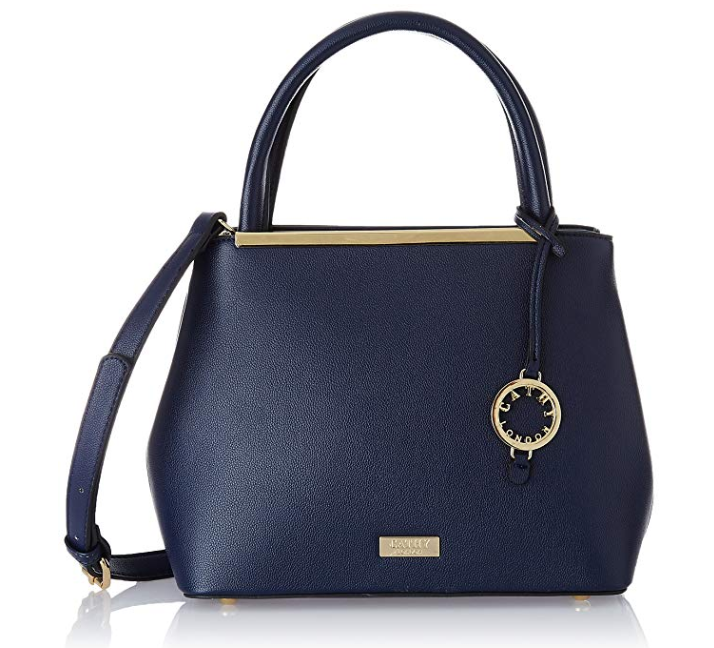 Features Blue Colour Handbag 1 Main Compartment In Size Can Carry Many Items One Go