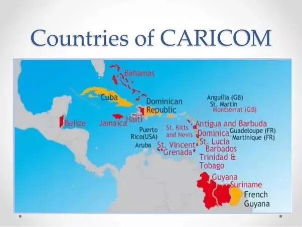 Why is belize considered a caribbean country quora the countries in red on the map are member states gumiabroncs Images
