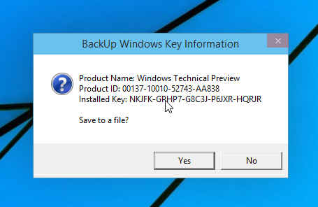 What is the way to find a product key with the help of the