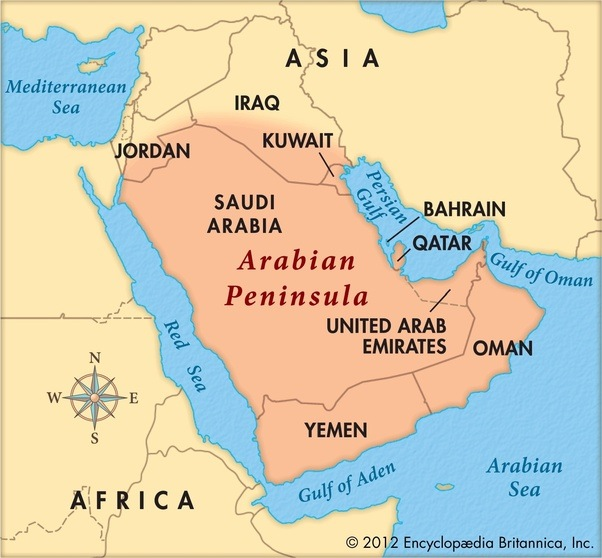 apart of the levant in modern definitions and most of the bottom half of iraq is part of the arabian peninsula geographicaly not politically